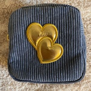 Stoney Clover Lane Corduroy Pouch with Heart